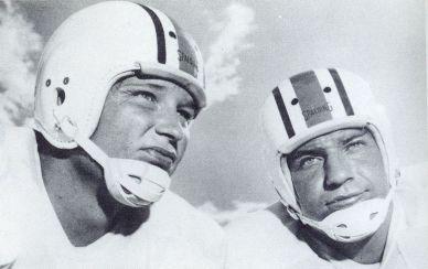 Jackie Burkett (left) and Zeke Smith (right), 1957