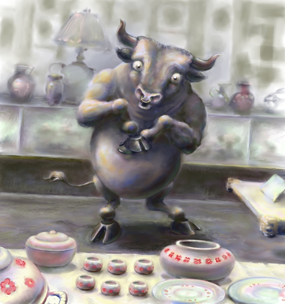 bull in china shop